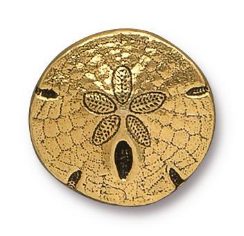 Antiqued Gold Sand Dollar Button (17mm)