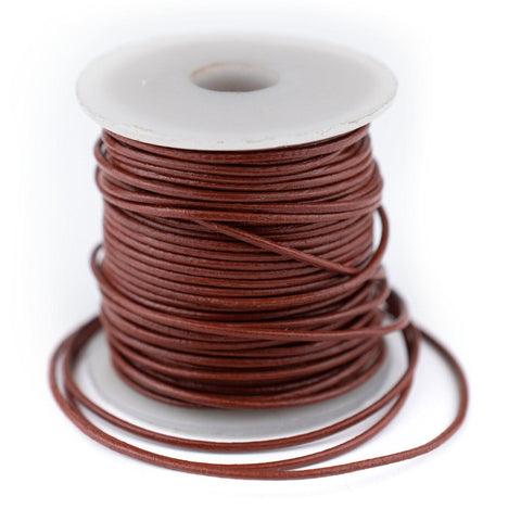 1.0mm Brown Round Leather Cord (75ft)