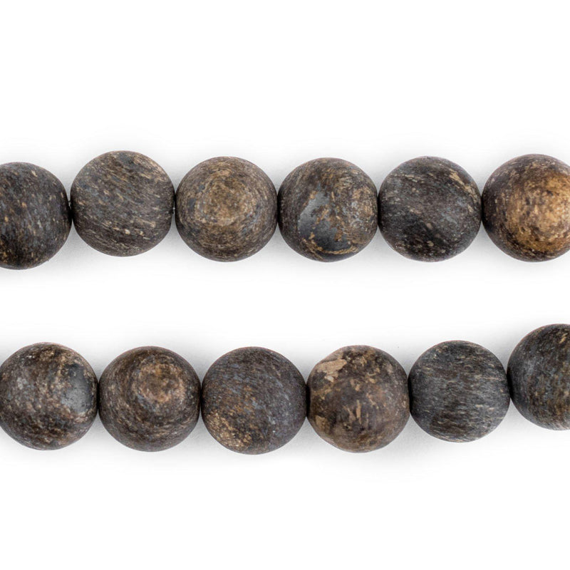 Matte Round Bronzite Beads (10mm) - The Bead Chest