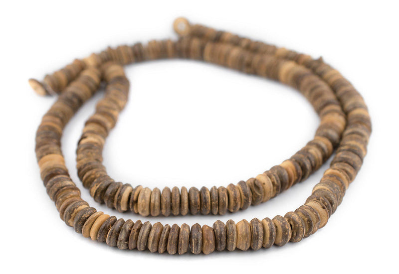 Light Coconut Wood Disk Beads (11mm) - The Bead Chest