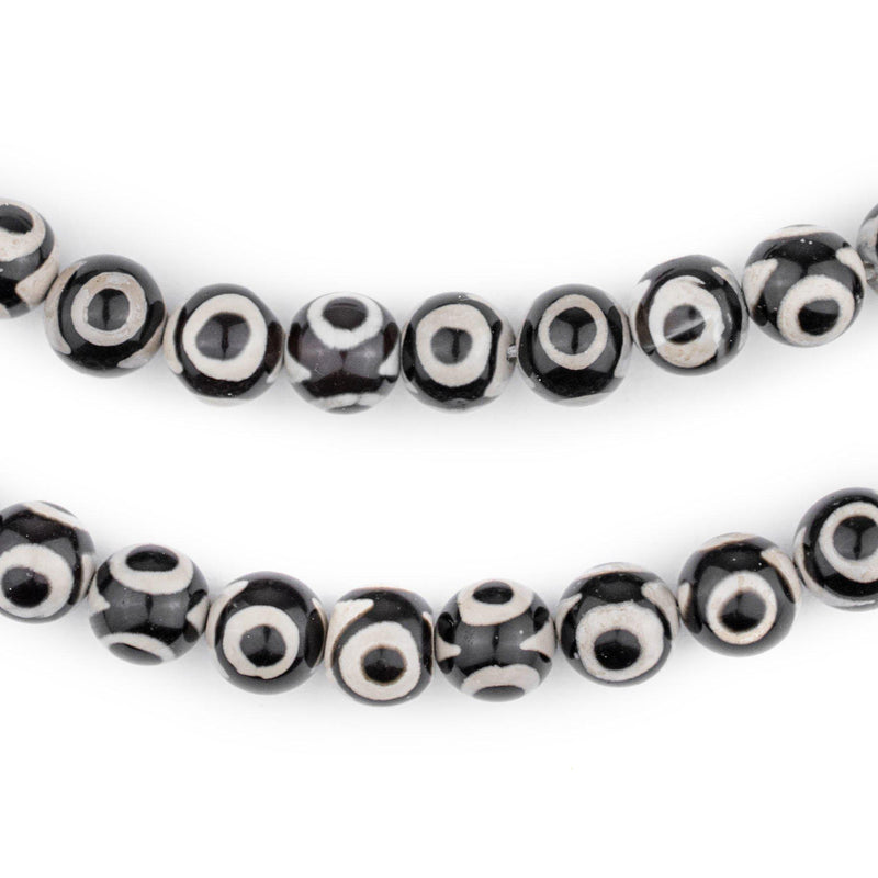 Black & White Agate Eye Beads - The Bead Chest