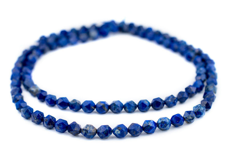 Faceted Lapis Lazuli Beads (8mm) - The Bead Chest