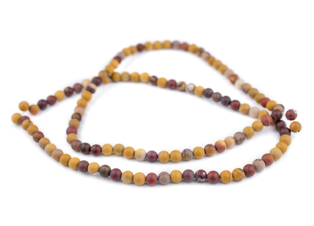 Matte Round Mookaite Beads (6mm) - The Bead Chest