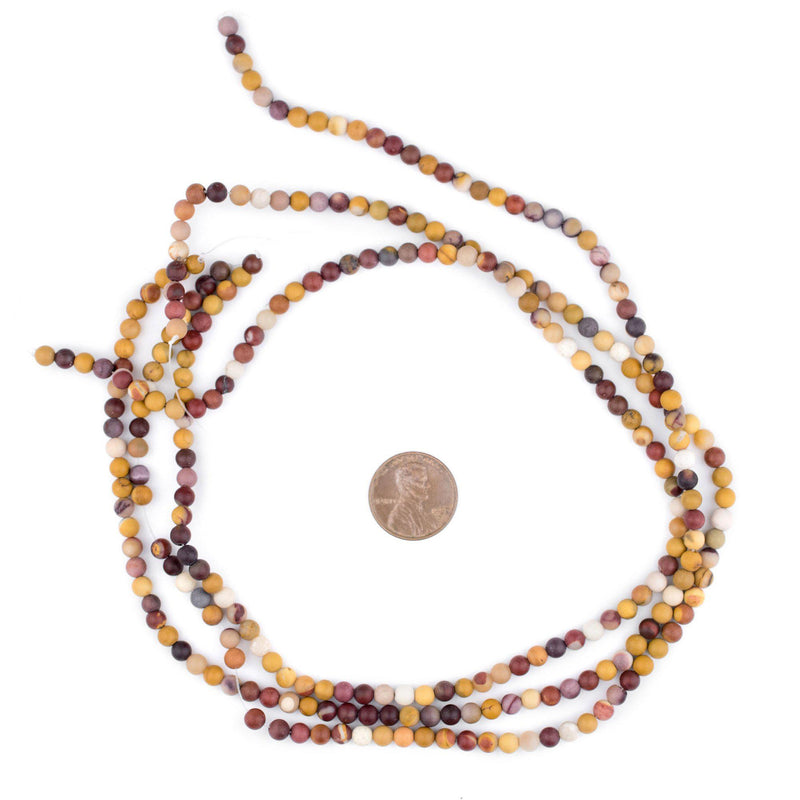Matte Round Mookaite Beads (4mm) - The Bead Chest