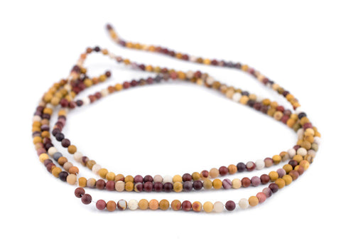 Image of Matte Round Mookaite Beads (4mm) - The Bead Chest