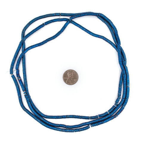 Blue Hematite Interlocking Snake Beads (4mm) - The Bead Chest