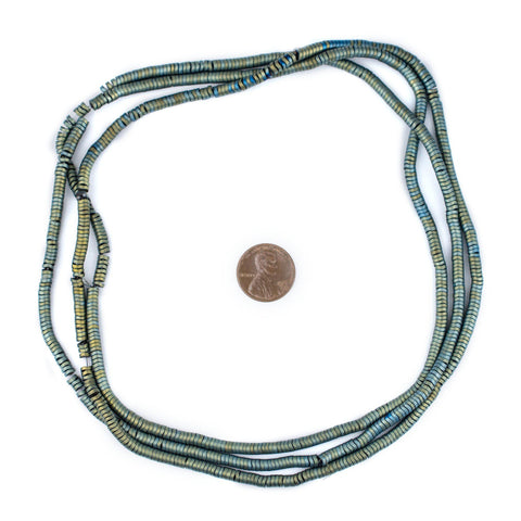 Green Hematite Interlocking Snake Beads (4mm) - The Bead Chest