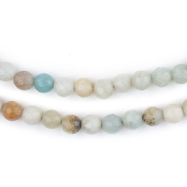 Faceted Round Amazonite Beads (6mm)