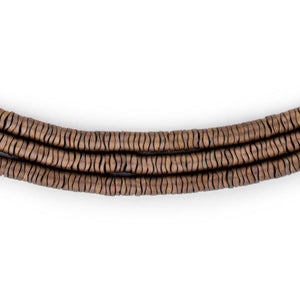 Copper Hematite Interlocking Snake Beads (4mm) - The Bead Chest