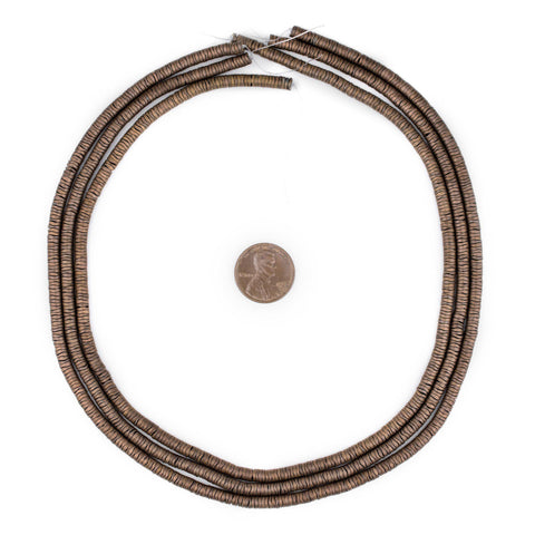 Image of Copper Hematite Interlocking Snake Beads (4mm) - The Bead Chest
