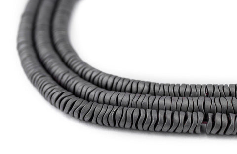Image of Grey Hematite Interlocking Snake Beads (4mm) - The Bead Chest
