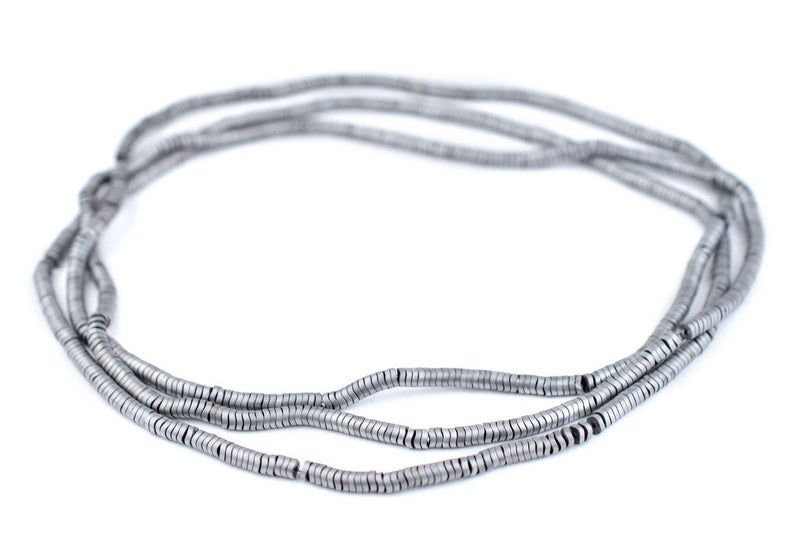 Silver Hematite Interlocking Snake Beads (4mm) - The Bead Chest