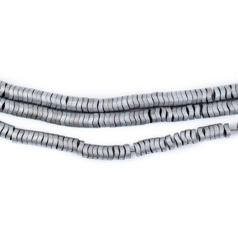 Image of Silver Hematite Interlocking Snake Beads (4mm) - The Bead Chest