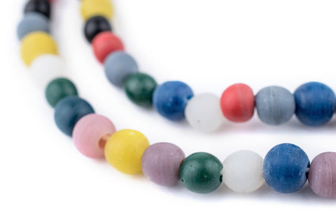 Image of Faded Multicolor Sphere Java Glass Beads (7mm) - The Bead Chest