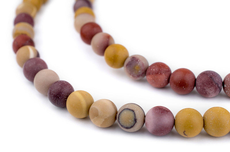 Matte Round Mookaite Beads (8mm) - The Bead Chest