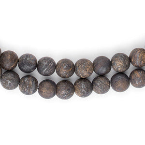 Matte Round Bronzite Beads (8mm) - The Bead Chest