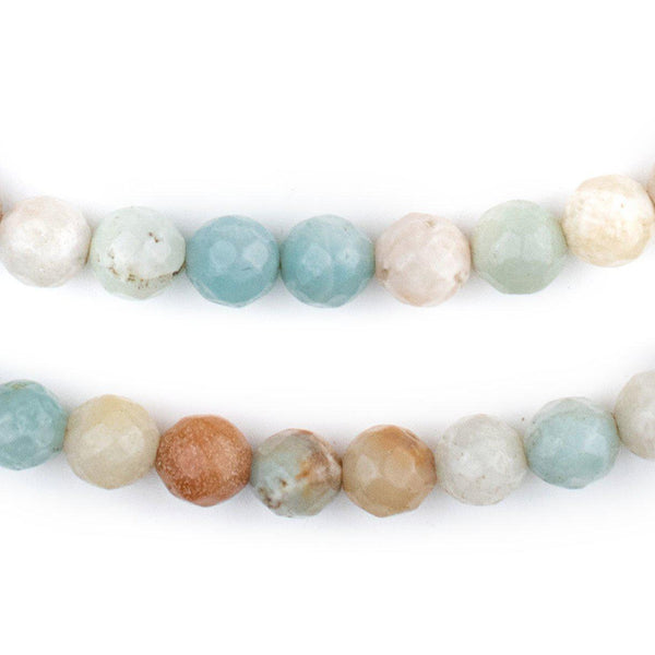 Faceted Round Amazonite Beads (8mm)