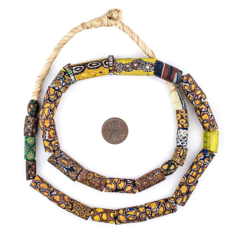Image of Antique Venetian Millefiori African Trade Beads (Value Strand) - The Bead Chest