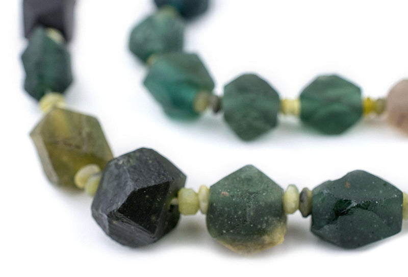 Diamond Cut Ancient Roman Glass Beads - The Bead Chest