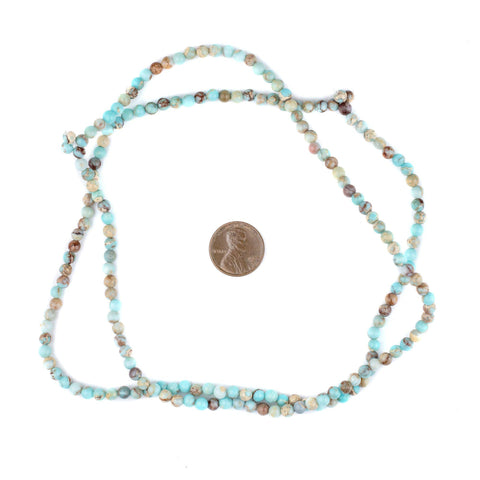 Image of Turquoise Sea Sediment Jasper Beads (4mm) - The Bead Chest