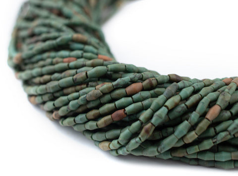 Green Turquoise Style Bicone Beads (4x2mm) - The Bead Chest