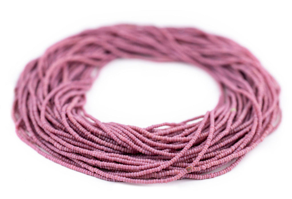 Vintage Tiny Rose Pink Seed Beads (2mm) - The Bead Chest