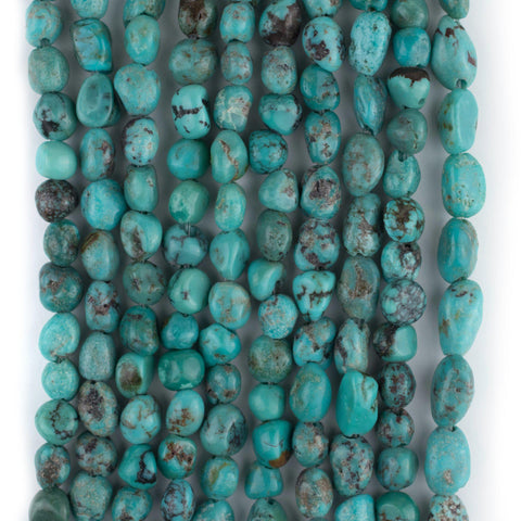 Image of Authentic Aqua Turquoise Nugget Beads (3mm)