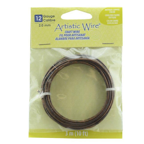 12 Gauge Antique Copper Color Artistic Wire (10ft) - The Bead Chest