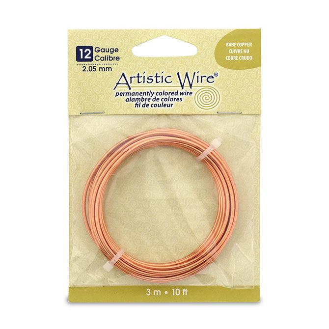 12 Gauge Bare Copper Artistic Wire (10ft) - The Bead Chest