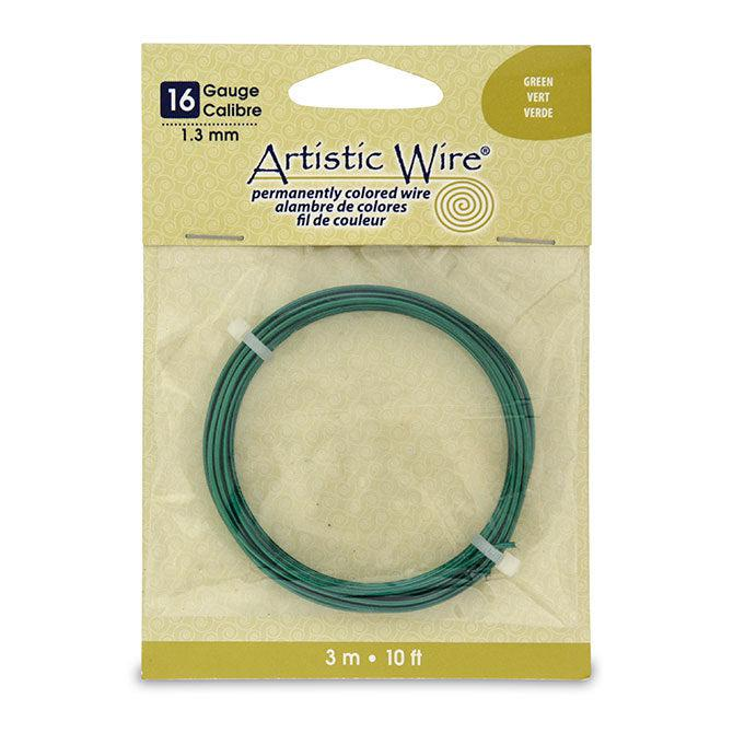 16 Gauge Green Artistic Wire (10ft) - The Bead Chest