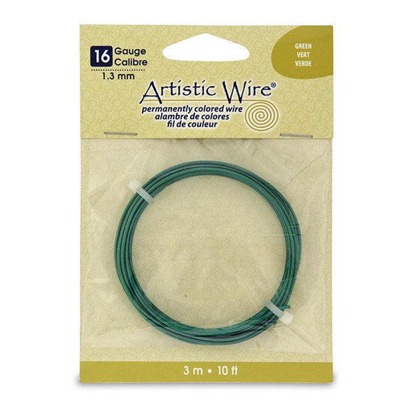 16 Gauge Green Artistic Wire (10ft)