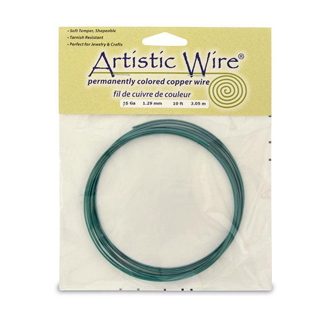 16 Gauge Kelly Green Artistic Wire (10ft) - The Bead Chest