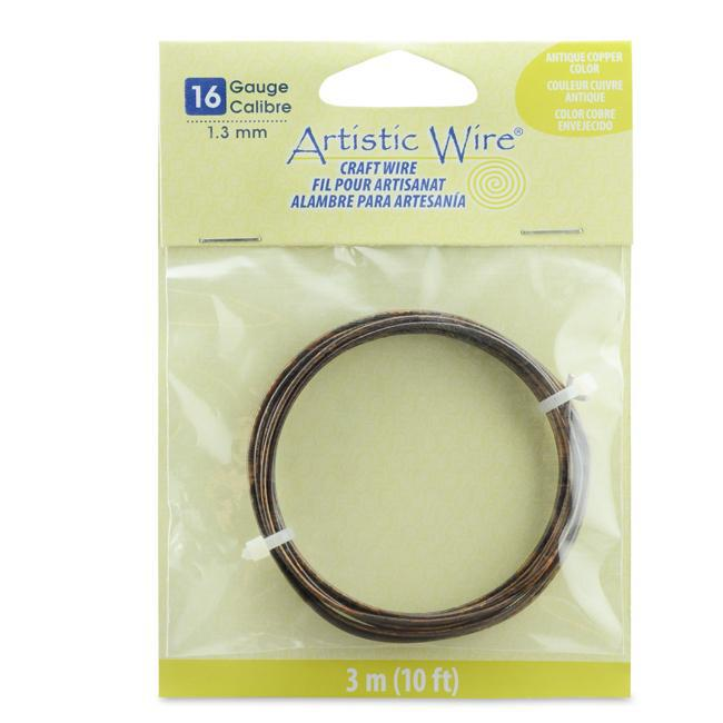 16 Gauge Antique Copper Color Artistic Wire (10ft) - The Bead Chest