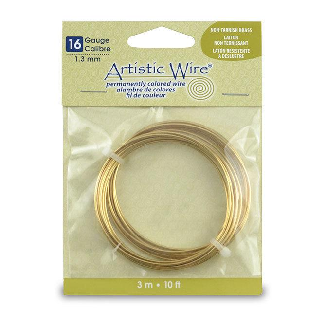 16 Gauge Tarnish Resistant Brass Artistic Wire (10ft) - The Bead Chest