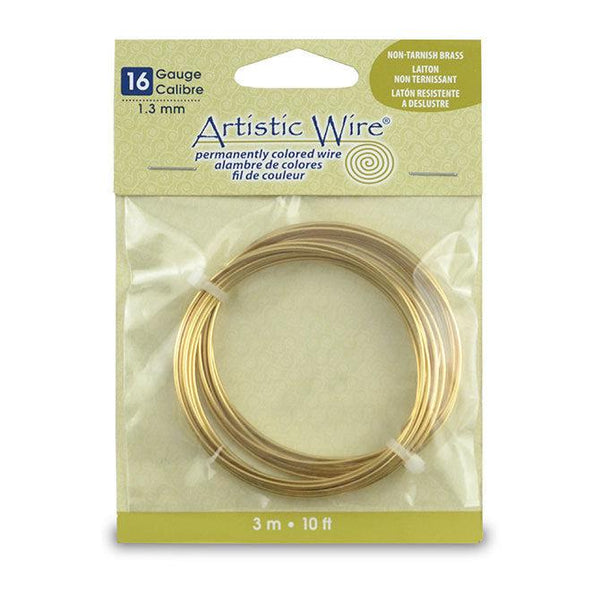 16 Gauge Tarnish Resistant Brass Artistic Wire (10ft)