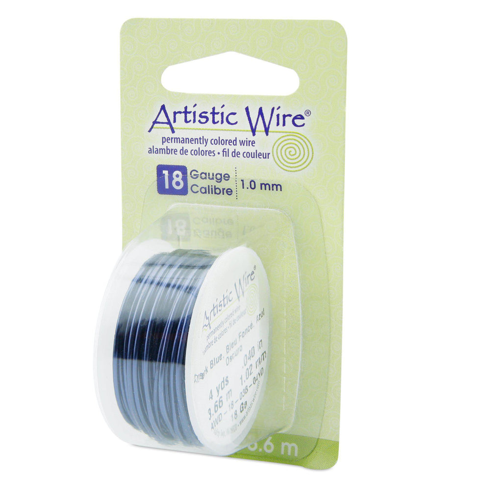 18 Gauge Dark Blue Artistic Wire (12ft) - The Bead Chest