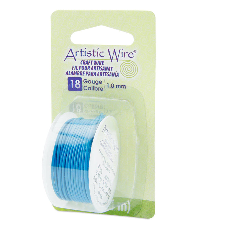 18 Gauge Powder Blue Artistic Wire (12ft) - The Bead Chest