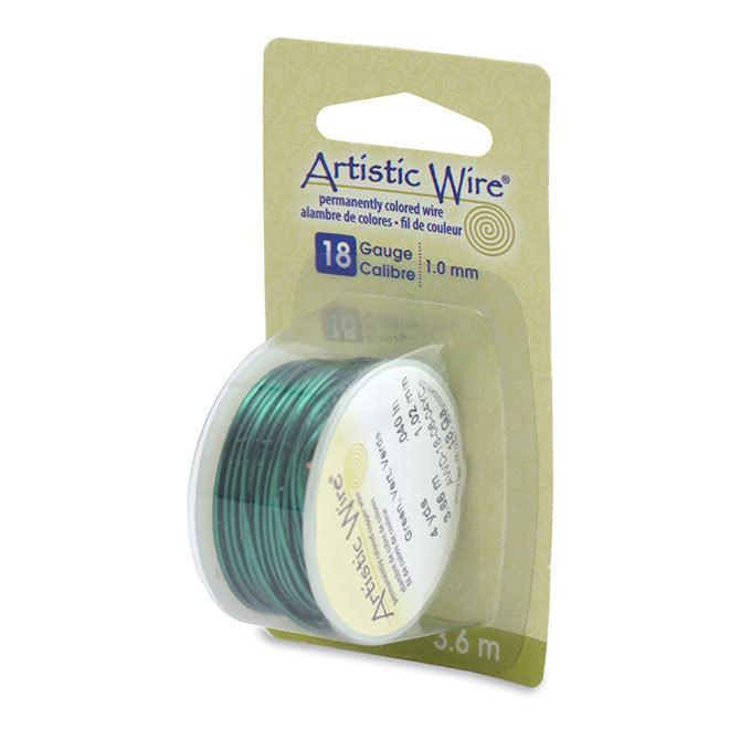 18 Gauge Green Artistic Wire (12ft) - The Bead Chest