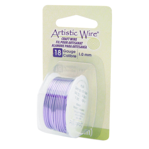 18 Gauge Lavender Artistic Wire (12ft) - The Bead Chest