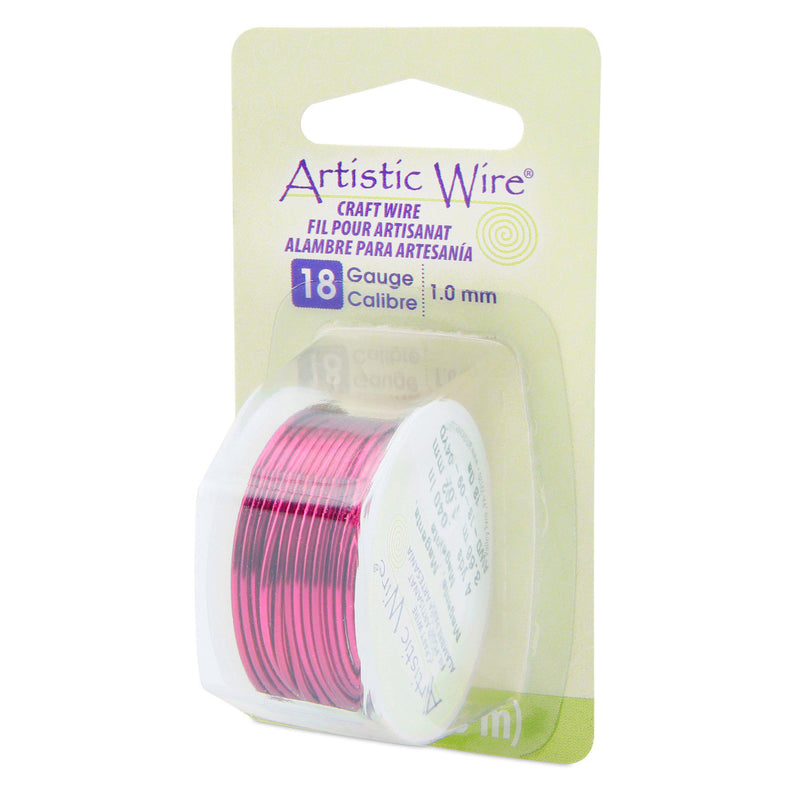 18 Gauge Magenta Artistic Wire (12ft) - The Bead Chest