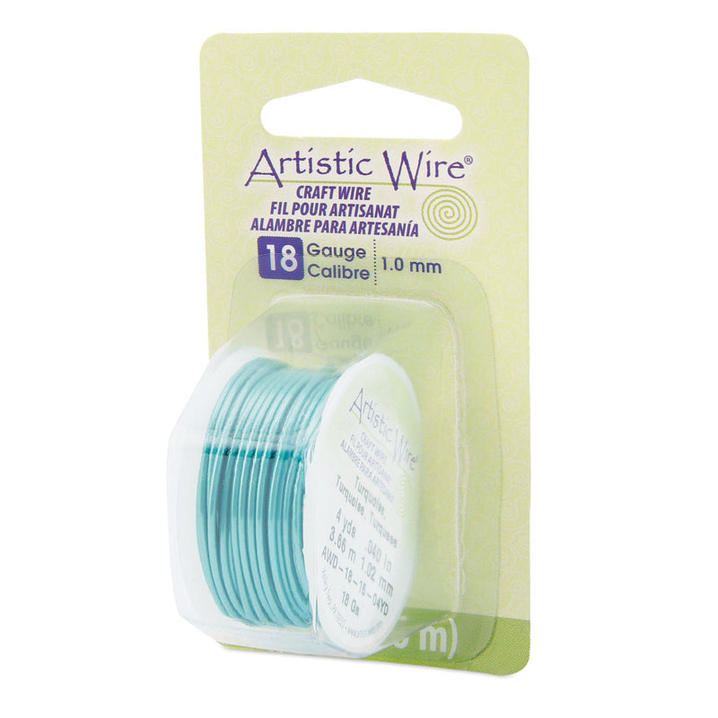 18 Gauge Turquoise Artistic Wire (12ft) - The Bead Chest