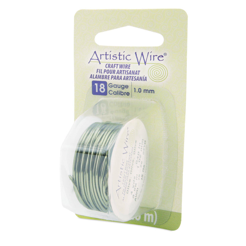 18 Gauge Olive Artistic Wire (12ft) - The Bead Chest
