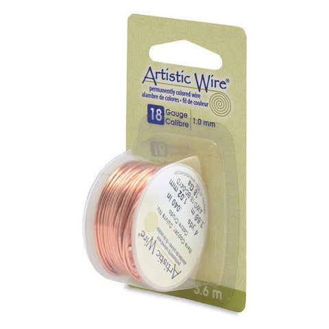 18 Gauge Bare Copper Artistic Wire (12ft) - The Bead Chest