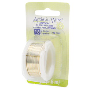 18 Gauge Tarnish Resistant Brass Artistic Wire (12ft) - The Bead Chest