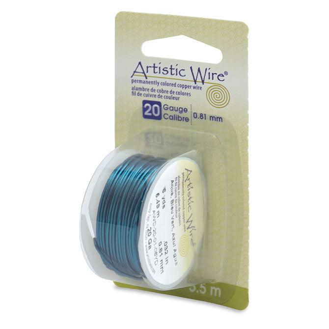 20 Gauge Aqua Artistic Wire (18ft) - The Bead Chest