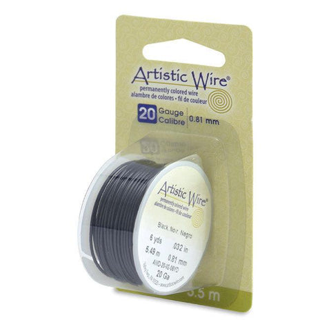 20 Gauge Black Artistic Wire (18ft) - The Bead Chest