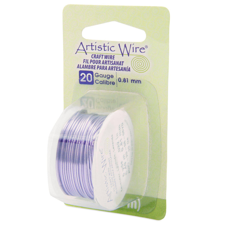 20 Gauge Lavender Artistic Wire (18ft) - The Bead Chest
