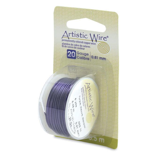 20 Gauge Purple Artistic Wire (18ft) - The Bead Chest