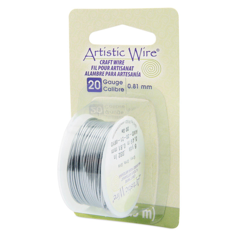 20 Gauge Grey Artistic Wire (18ft) - The Bead Chest