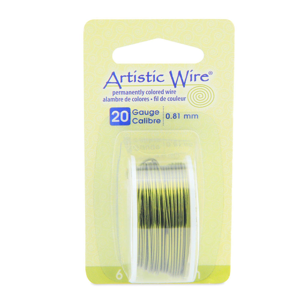 20 Gauge Olive Artistic Wire (18ft) - The Bead Chest